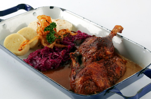 Old Bohemian style roasted duck