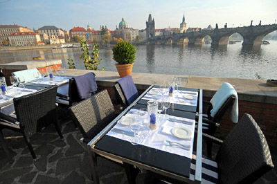 best garden restaurants in prague restaurant. Black Bedroom Furniture Sets. Home Design Ideas